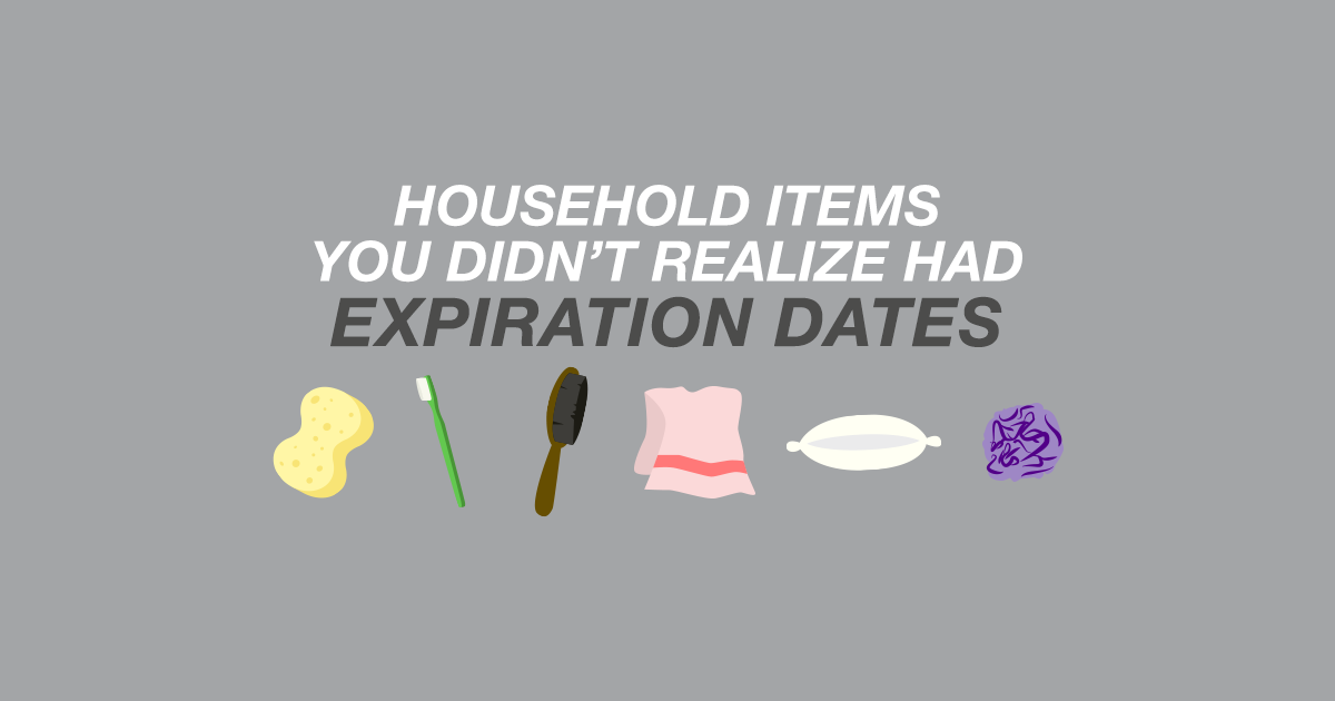 Household Items You Didn't Realize Had Expiration Dates