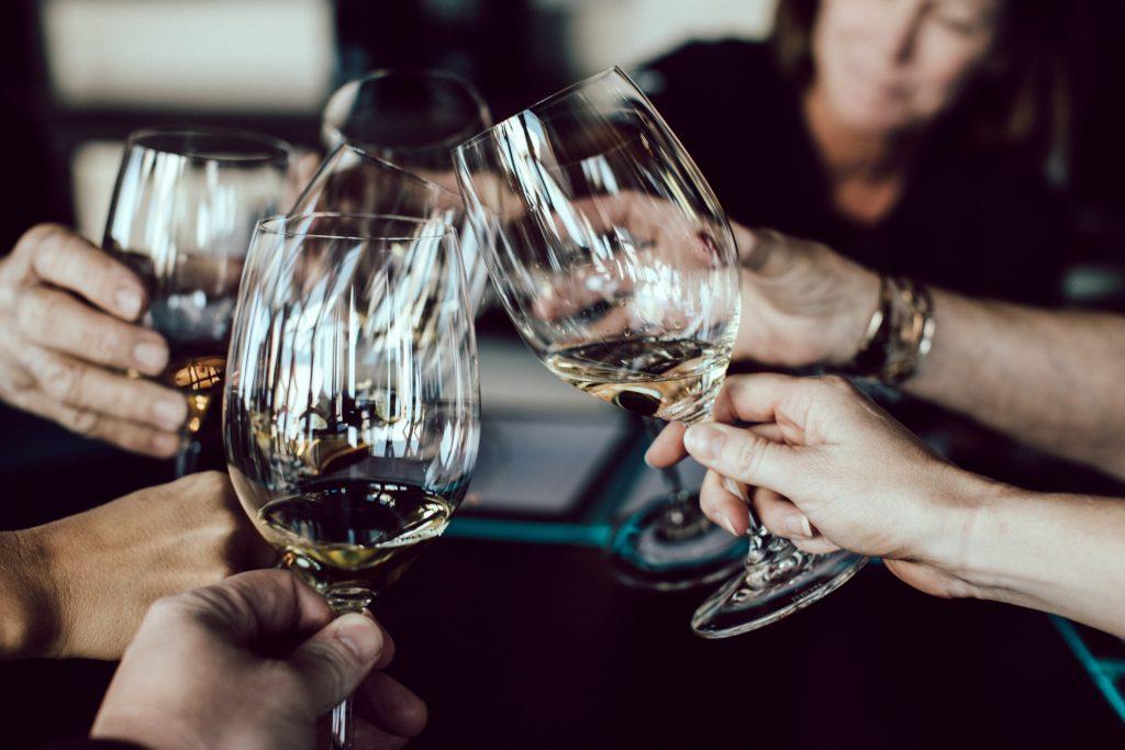 People Enjoying Wine