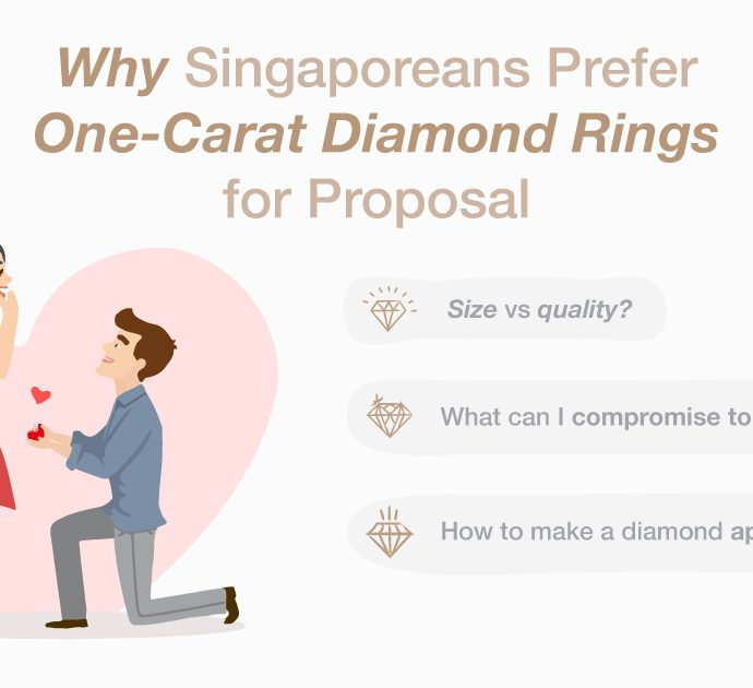 Why Singaporeans Prefer One-Carat Diamond Rings for Proposal